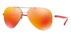 Ray-Ban RB8058 159/6Q ORANGE FLASHSHINY GREY