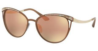 Bvlgari BV6083 20374Z GREY MIRROR ROSE GOLDMATTE BROWN