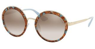 Prada PR 50TS KJO4O0 GRADIENT BROWN MIRROR SILVERSTRIPED BROWN/AZURE