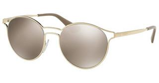 Prada PR 62SS ZVN1C0 LIGHT BROWN MIRROR GOLDPALE GOLD