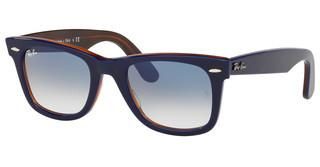 Ray-Ban RB2140 12783F CLEAR GRADIENT BLUETOP BLUE ON RED HAVANA