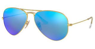 Ray-Ban RB3025 112/4L BLUE MIRROR POLARMATTE GOLD
