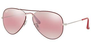 Ray-Ban RB3025 9155AI PURPLE BI-MIRROR GREY-PHOTOMATTE BORDEAUX ON SILVER