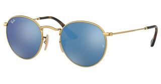 Ray-Ban RB3447N 001/9O LIGHT BLUE FLASHSHINY GOLD