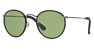 Ray-Ban RB3475Q 029/14 CRYSTAL GREENMATTE GUNMETAL/BLACK LEATHER