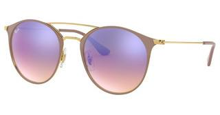 Ray-Ban RB3546 90118B BLUE FLASH GRADIENTGOLD TOP BEIGE
