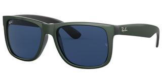 Ray-Ban RB4165 646880 DARK BLUEGREEN METALLIC ON BLACK