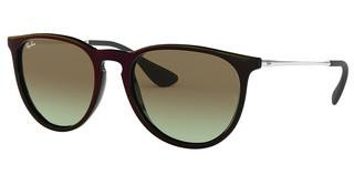 Ray-Ban RB4171 6316E8 GREEN GRADIENT BROWNMIRROR RED ON BLACK