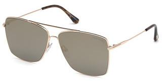 Tom Ford FT0651 28C grau verspiegeltrosé