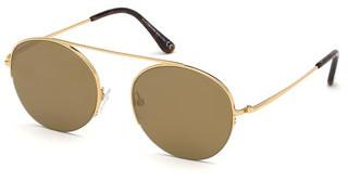 Tom Ford FT0668 30G braun verspiegelttiefes gold glanz