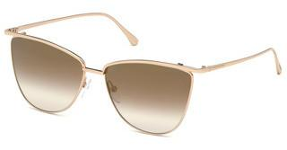 Tom Ford FT0684 28G braun verspiegeltrosé-gold glanz