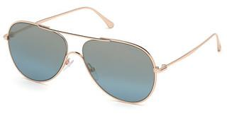 Tom Ford FT0695 28X blau verspiegeltrosé-gold glanz