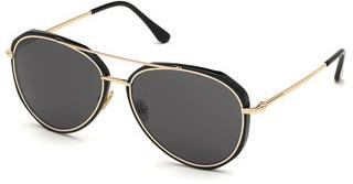 Tom Ford FT0749 01A grauschwarz glanz