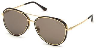 Tom Ford FT0749 52J roviexhavanna dunkel