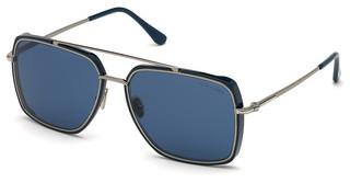 Tom Ford FT0750 90V blaublau glanz