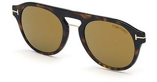 Tom Ford FT5533-B-CL 52C grau verspiegelthavanna dunkel